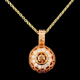 14K Gold 0.49ctw Diamond Pendant