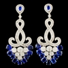 18K Gold 8.93ct Kyanite & 2.99ctw Diamond Earrings