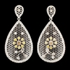 18K Gold 4.16ctw Diamond Earrings