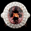 18K Gold 6.02ct Tourmaline & 2.14ct Diamond Ring