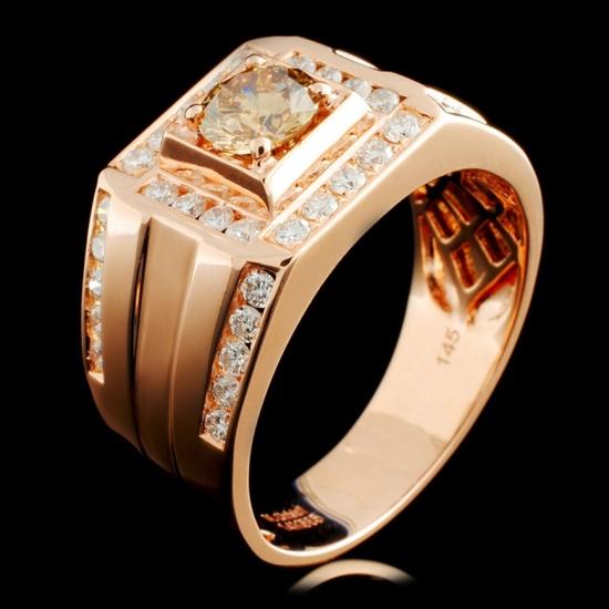 14K Gold 1.45ctw Fancy Diamond Ring