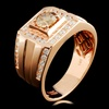 14K Gold 1.45ctw Fancy Diamond Ring