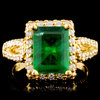 18K Gold 2.47ct Emerald & 1.20ctw Diamond Ring