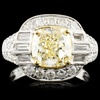 18K Gold 3.62ctw Fancy Colored Diamond Ring