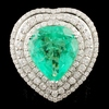 18K Gold 8.01ct Emerald & 2.85ctw Diamond Ring