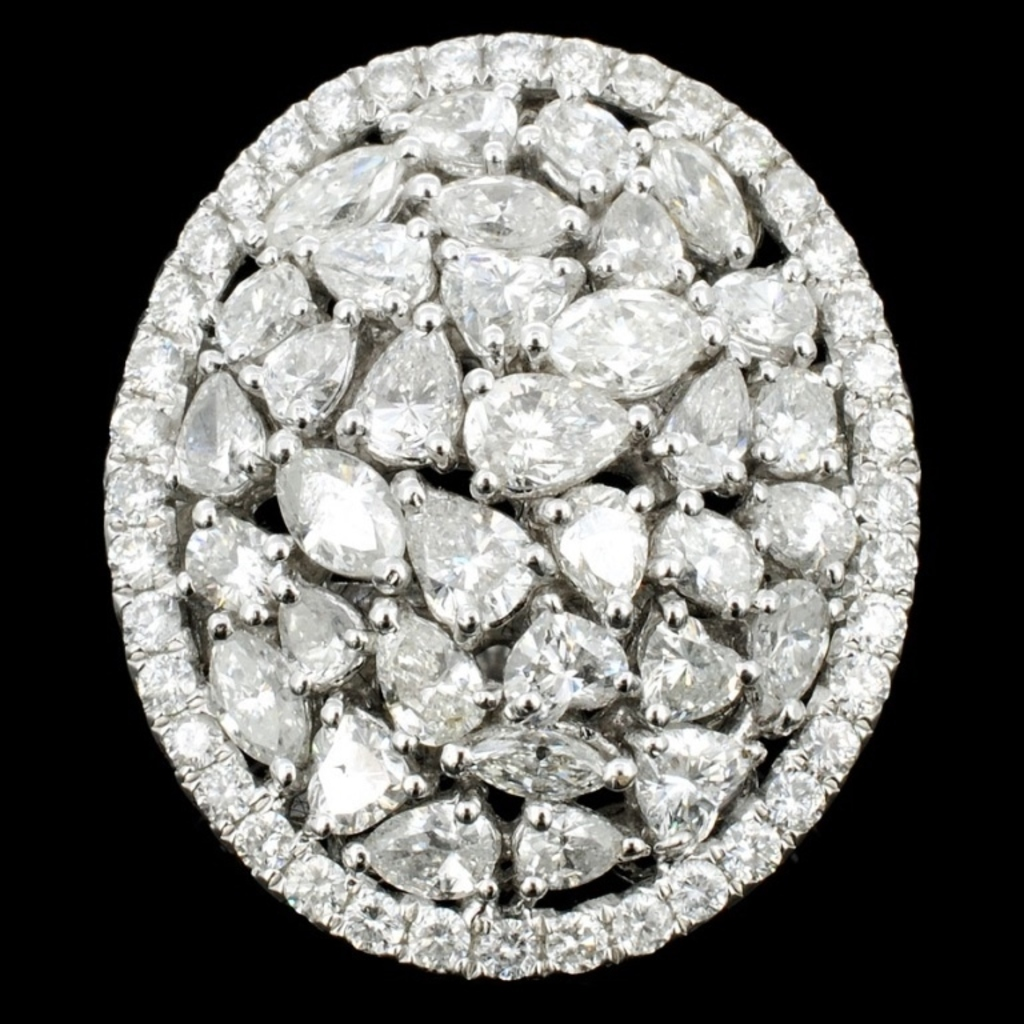18K White Gold 3.39ct Natural Diamond Ring