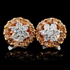 14K Rose Gold 0.75ctw Fancy Color Diamond Earrings