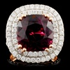 18K Gold 8.65ct Tourmaline & 1.44ctw Diamond Ring