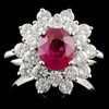 18K White Gold 1.67ct Ruby & 1.50ct Diamond Ring