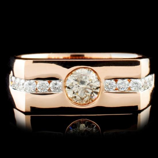 14K Gold 0.83ctw Diamond Ring