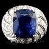 18K Gold 10.60ct Sapphire & 2.87ctw Diamond Ring