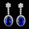 18K Gold 10.09ct Tanzanite & 1.68ct Diamond Earrin