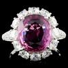 18K White Gold 4.80ct Sapphire & 2.16ct Diamond Ri
