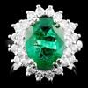 14K Gold 3.88ct Emerald & 1.00ctw Diamond Ring