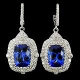 18K Gold 9.51ct Tanzanite & 2.37ct Diamond Earring