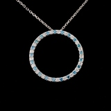 18K White Gold 0.62ctw Diamond Pendant