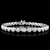 18K White Gold 2.71ctw Diamond Bracelet