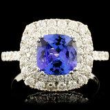 18K Gold 2.00ct Tanzanite & 0.96ctw Diamond Ring