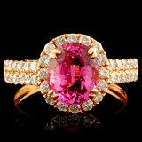 18K Gold 2.22ct Spinel & 0.76ctw Diamond Ring
