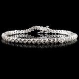 14K White Gold 1.14ctw Diamond Bracelet