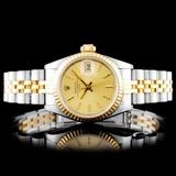 Rolex YG/SS DateJust Ladies Champagne Wristwatch