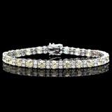 ^18k White Gold 12.00ct Diamond Bracelet