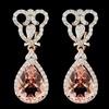 14K Gold 7.25ct Morganite & 1.30ct Diamond Earring