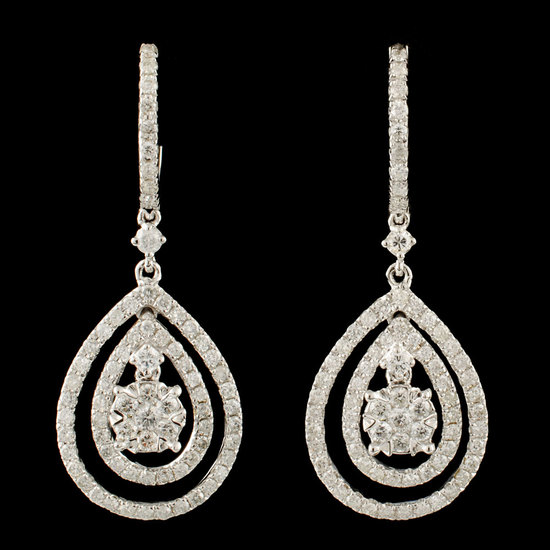 14K Gold 1.27ctw Diamond Earrings