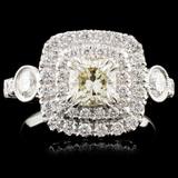 18K Gold 1.59ctw Diamond Ring