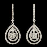 14K Gold 1.27ctw Diamond Earrings