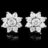 14K Gold 1.24ctw Diamond Earrings