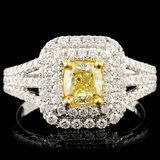 18K Gold 1.37ctw Fancy Diamond Ring