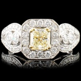 18K Gold 1.51ctw Fancy Color Diamond Ring