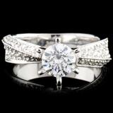 18K Gold 1.38ctw Diamond Ring
