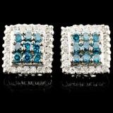 14K Gold 1.30ctw Fancy Color Diamond Earrings
