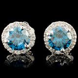 14K Gold 1.45ctw Diamond Earrings