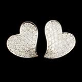 18K Gold 1.49ctw Diamond Earrings