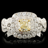 18K Gold 1.52ctw Fancy Diamond Ring