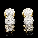 18K Gold 1.44ctw Diamond Earrings