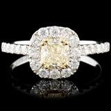 18K Gold 1.20ctw Fancy Diamond Ring