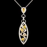 18K Gold 1.81ctw Diamond Pendant