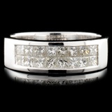 18K Gold 0.80ctw Diamond Ring