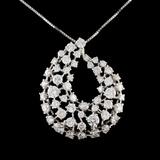 14K White Gold 4.80ctw Diamond Necklace