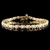 14K Yellow Gold 1.00ct Diamond Bracelet