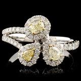 18K Gold 0.81ctw Fancy Diamond Ring