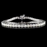 14K White Gold 4.00ctw Diamond Bracelet