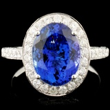 18K Gold 3.91ct Tanzanite & 1.07ctw Diamond Ring