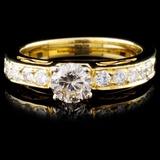 18K Yellow Gold 0.99ctw Diamond Ring