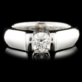 18K Gold 0.55ct Diamond Ring