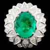 18K Gold 4.23ct Emerald & 1.93ctw Diamond Ring